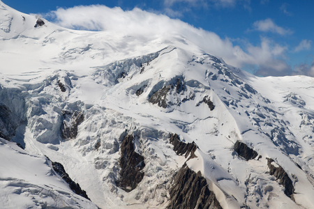 massif: Dome du Gouter in the Mont Blanc massif, France.