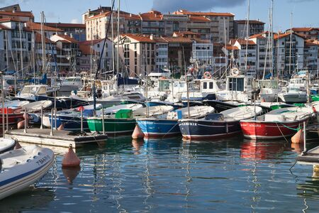 vizcaya: Lekeitio, Spain - August 13, 2014: Lekeitio is one of the most important fishing ports of the Basque coast, Spain.