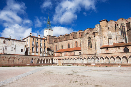 camposanto: Campo Santo and Cathedral of Perpignan, Languedoc-Roussillon, France.
