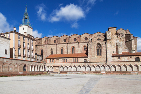 camposanto: Cathedral of SaintJeanBaptiste in Perpignan LanguedocRoussillon France.