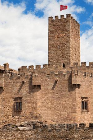 turret: Turret of Javier Castle in Navarre Spain.