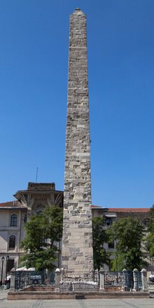obelisk stone: Walled Obelisk in the Hippodrome of constantinople Istanbul Turkey.