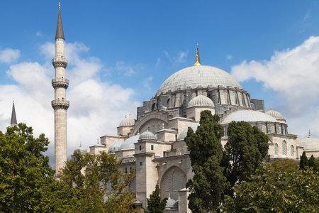 suleyman: Exterior of the Suleymaniye Mosque in Istanbul Turkey. Editorial