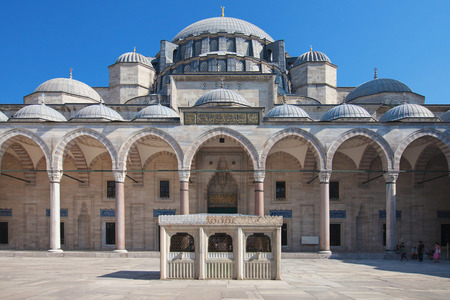 suleyman: Suleymaniye Mosque in Istanbul, Turkey. Stock Photo