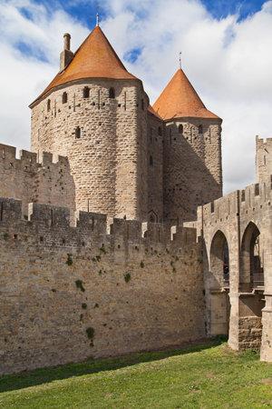 cite: Porte Narbonnaise, Cite of Carcassonne, Languedoc-Roussillon, France. Editorial