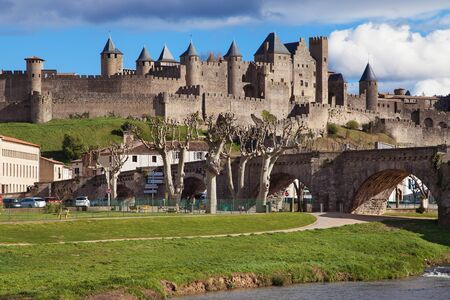 fortified: Cite de Carcassonne, Languedoc-Roussillon, France. Editorial