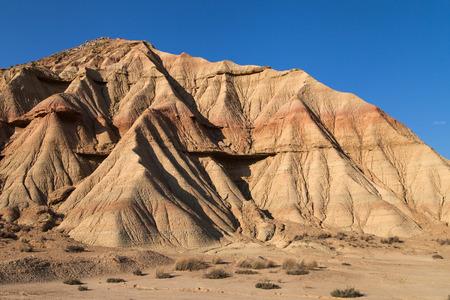 navarre: Landforms in Bardena Blanca, Bardenas Reales, Navarre, Spain.