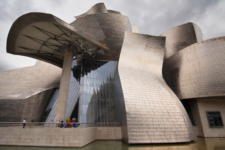 bilbo: Entrance of Guggenheim Museum in Bilbao, Spain. Editorial