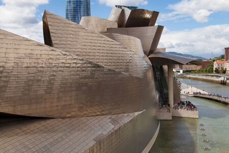 the basque country: Modern art museum Guggenheim in Bilbao, Basque Country, Spain.
