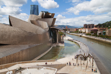 Museum Guggenheim in Bilbao, Spain. Editorial