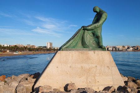 the dorada: Fisherman Memorial in Salou, Catalonia, Spain.