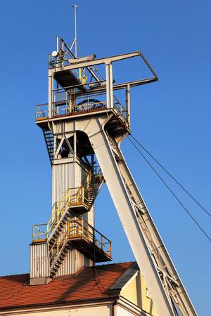 soli: Headframe of the Wieliczka salt mine in Poland.