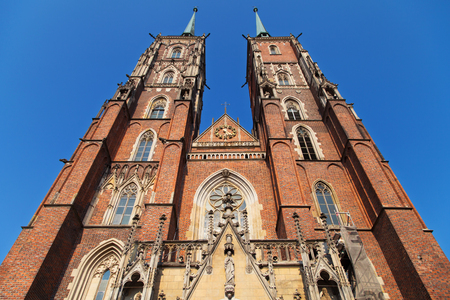 baptist: Towers of the St John the Baptist Cathedral, Wroclaw, Poland.