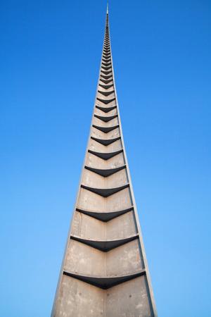 polska monument: Iglica monument in Wroclaw, Poland. Stock Photo