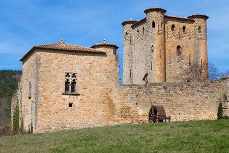 donjon: ARQUES, FRANCE - APRIL 3: Donjon Arques, Aude, Languedoc-Roussillon, France.