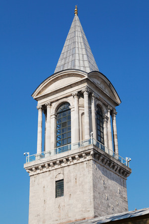 constantinople ancient: ISTANBUL, TURKEY - AUGUST 23: Tower of Justice of the Topkapi palace, Istanbul, Turkey.