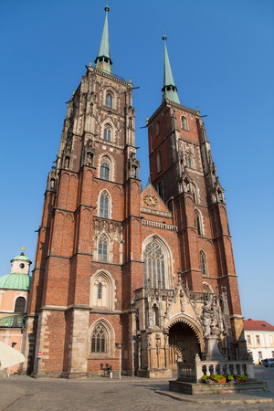 st john: Cathedral of St John the Baptist, Wroclaw, Poland. Stock Photo