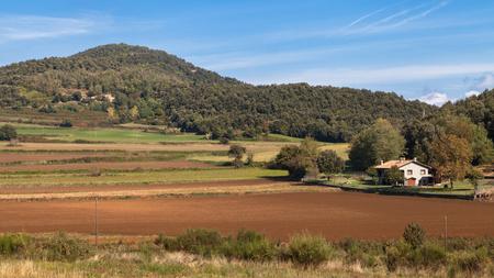Landschap in de buurt van Santa Pau in Garrotxa, Girona, Catalonië.