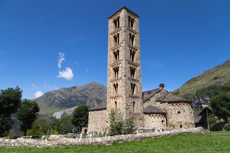 Romanesque church of Santa Climent in Taull, Vall de Boi, Catalonia.