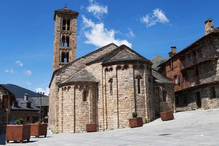 santa maria: Santa Maria church in Taull, Lleida, Catalonia. Stock Photo