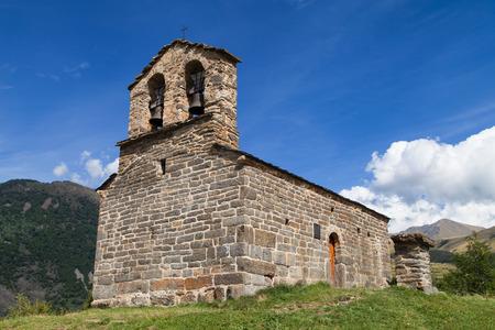 romanesque: Sant Quirc of Durro, romanesque hermitage in the Pyrenees, Boi Valley, Catalonia.