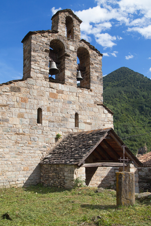 romanesque: Romanesque church of Santa Maria in Cardet, Vall de Boi, Lleida, Catalonia.