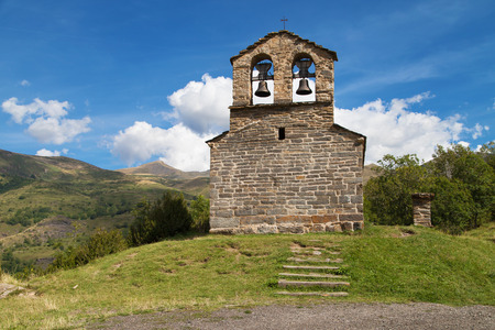 hermitage: Sant Quirc hermitage in Durro in the Catalan Pyrenees. Stock Photo