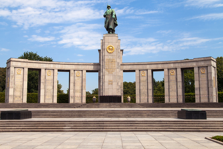 communism: Soviet War Memorial in Berlin, Germany. Editorial