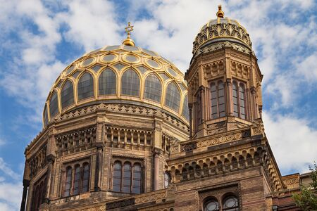 synagoge: Cupola of the New Synagogue in Berlin, Germany.
