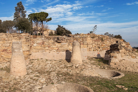 iberian: Ruins of the iberian settlement of Ullastret in Girona, Catalonia. Stock Photo