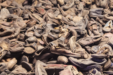 nazi: Exhibition of victims shoes of the former nazi concentration camp of Auschwitz in Oswiecim, Poland, in operation between May 1940 and January 1945.