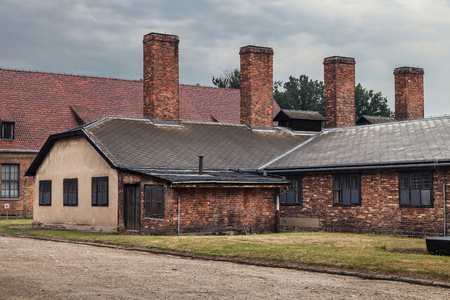 Reich: Kitchen building of the former nazi concentration camp Auschwitz I in Oswiecim, Poland.