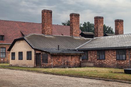 oswiecim: Kitchen building of the former nazi concentration camp Auschwitz I in Oswiecim, Poland.