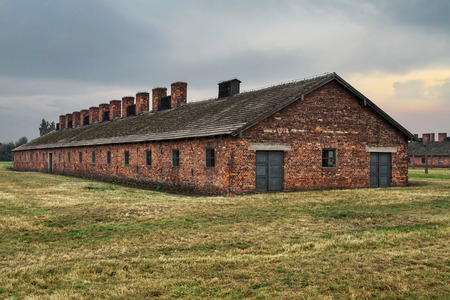 extermination: Barrack of the former nazi extermination camp of Auschwitz-Birkenau in Oswiecim, Poland.