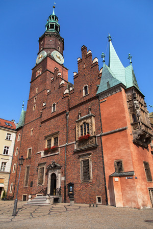 town hall: Town Hall of Wroclaw, Poland.