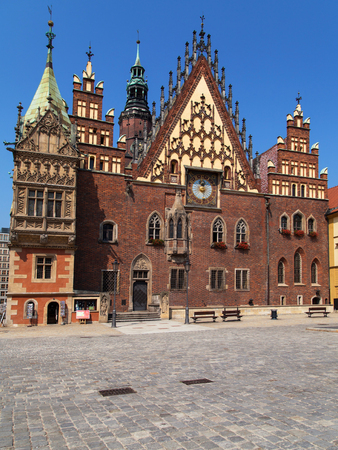 old town hall: Old Town Hall of Wroclaw, Poland.