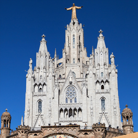 cor: Sagrat Cor Basilica in Barcelona, Catalonia, Spain. Stock Photo