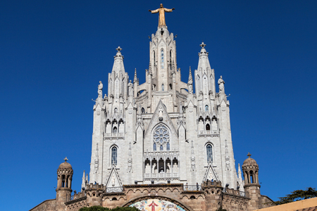 sagrat cor: Expiatory Church of the Sacred Heart on the Tibidabo, Barcelona, Catalonia, Spain.