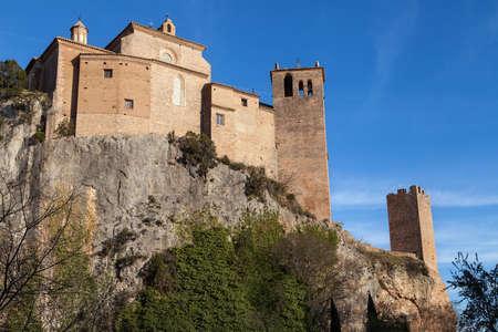 collegiate: Santa Maria la Mayor Collegiate Church in Alquezar, Huesca province, Aragon, Spain.