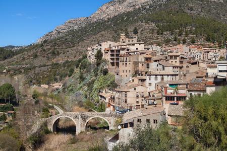 baixa: Village of La Vilella Baixa in the Priorat, Catalonia, Spain. Stock Photo