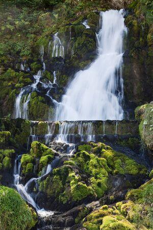 gruyere: The Waterfalls in Jaun, Gruyere, Switzerland. Stock Photo