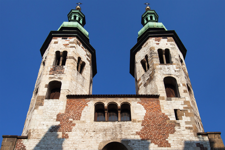 andrew: Saint Andrew Church Towers in Krakow, Poland. Stock Photo