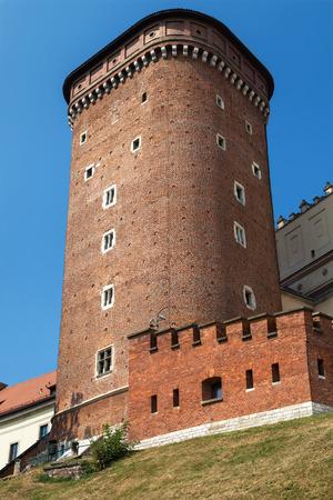 senator: Senator Tower of Wawel Royal Castle, Krakow, Poland. Stock Photo