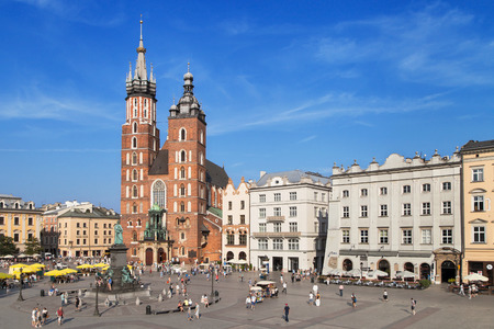 Main Market Square of Krakow, Poland.