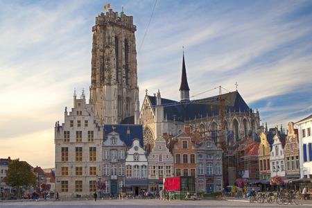 Grande place du marché de Mechelen, Belgique.