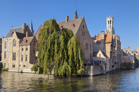 Quay of the Rosary, Bruges, Belgium.