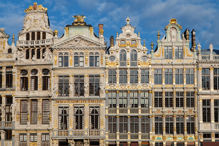 Guildhalls in the Grand Place, Brussels, Belgium.