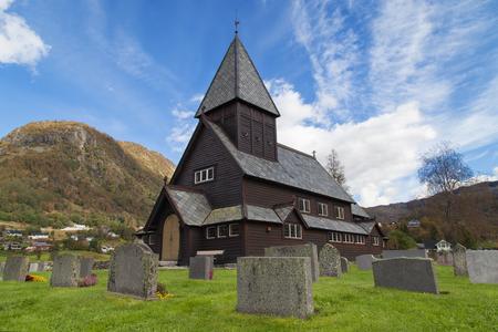 hardanger: Roldal Stave Church, Hordaland, Norway.
