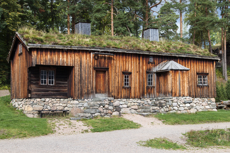 Old Farmhouse from Orlandet in Bygdoy, Oslo, Norway.