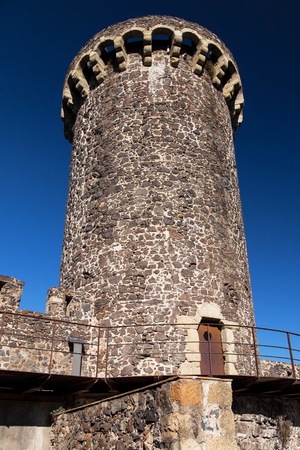 Arara Tower in Hostalric, Girona Province, Catalonia. Stock Photo